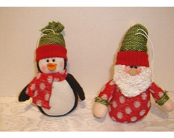 Holiday Ornaments/Set of 2/ Craft Supplies/Holiday Decor*