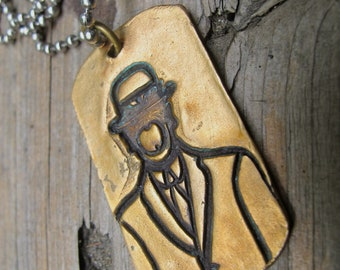 The Son of Man Bronze Dog Tag