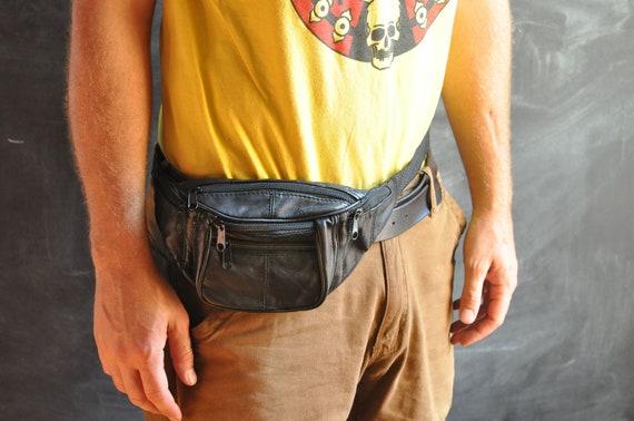 Vintage Fanny Pack Black Pockets Central