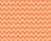 Chevron Small Orange Tone on Tone by Riley Blake - 1 Yard
