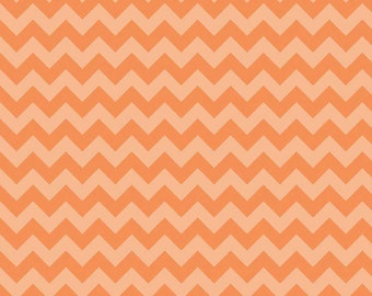 Chevron Small Orange Tone on Tone by Riley Blake - 1 Yard