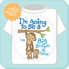 I M Going To Be A Big Brother To Twins Shirt Or Onesie