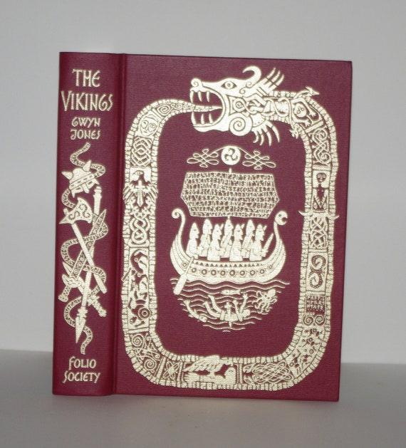 Hollow Book Safe The Vikings 22k Gold Folio Society Premium Binding with Magnetic Closures and Slipcase
