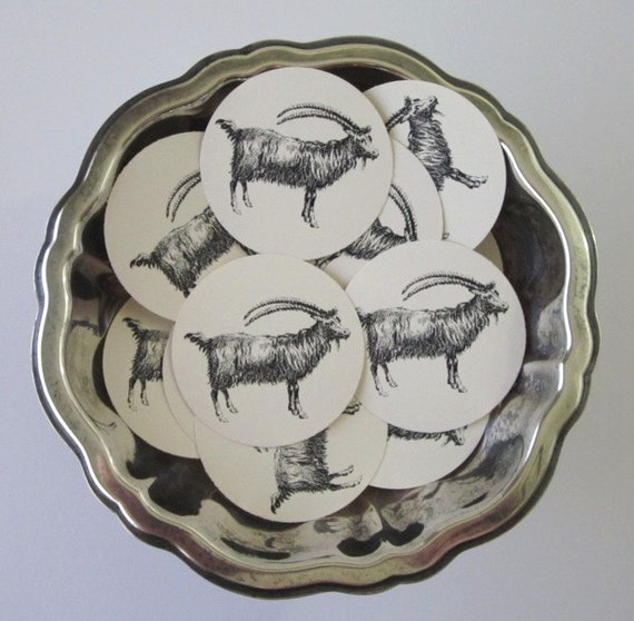 Goat Tags Round Gift Tags Set of 10