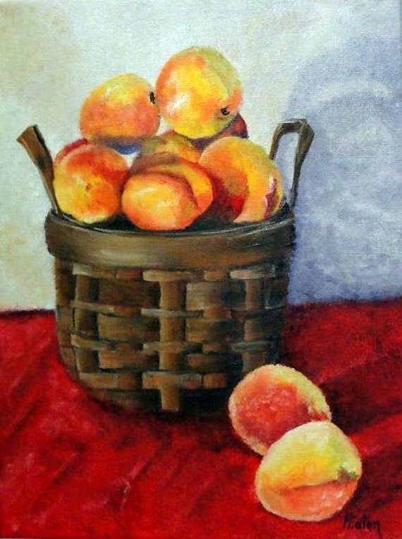 Just Peachy - Original Oil Painting on 9x12 Wrapped Canvas