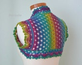 RAINBOW, Crochet shrug pattern pdf