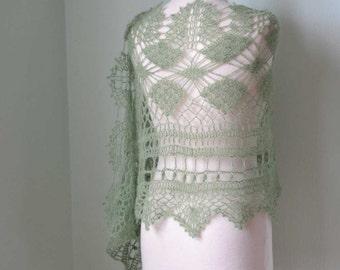 MISITU, Crochet shawl pattern pdf