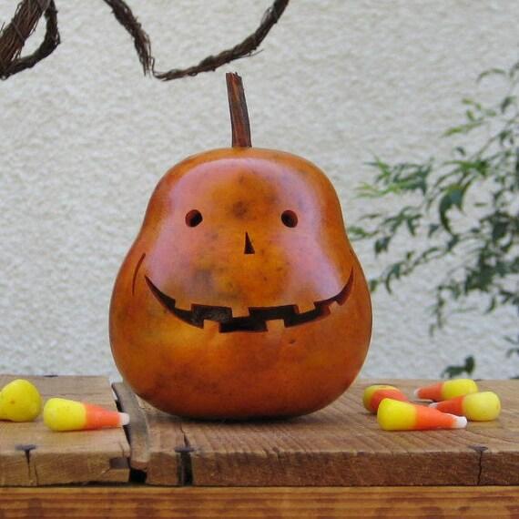 Halloween Gourd Jack-O-Lantern Spooky Natural Fall Harvest Centerpiece Decoration