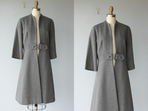 1960s jacket / 60s princess coat / wool dress coat / 60s coat / 1960s coat / dress jacket - size large