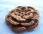 Crochet flower motif 4 inch gold