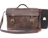 "15 "" macbook  Messenger bag Mens Women  Brown Leather Brifcase Leather Handbag leather bag for laptop leather cross body bag  shoulder bag"