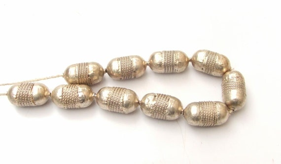 Metal spacer bead  (15) African beads Coptic bead  trade bead tribal jewllery Tube Spacers