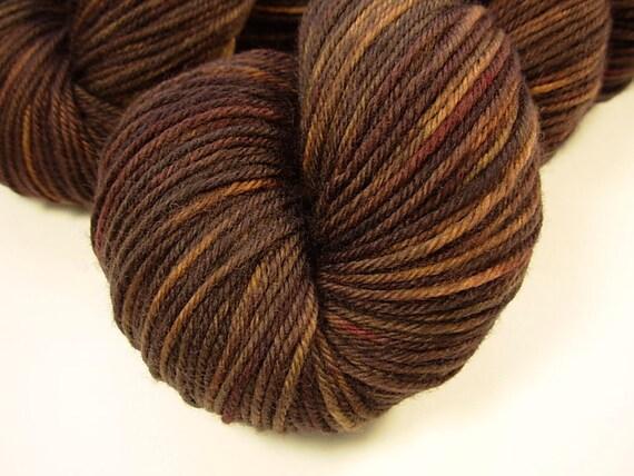 Sport Weight Superwash Merino Wool Yarn - Bark Tonal - Hand Dyed Yarn, Knitting Supplies