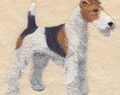 WIREHAIRED FOX TERRIER- Machine Embroidered Quilt Blocks (AzEB