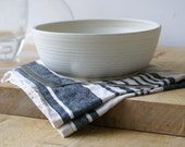 Made to order - A set of six large studio pottery salad bowls glazed in your choice of colour