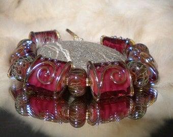 Lampwork Bracelet FINE WINE