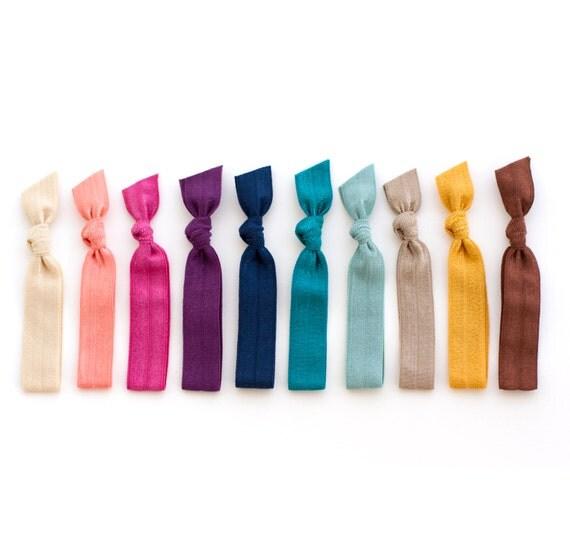 the pioneer hair tie package 10 jewel tone fall elastic. Black Bedroom Furniture Sets. Home Design Ideas