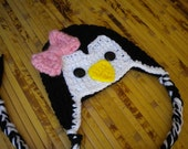 Penguin Baby Beanie Photo Prop