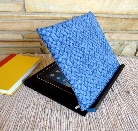 Adjustable Padded Book or iPad Rest For Your Lap With Reversible Washable Slipover Pad.