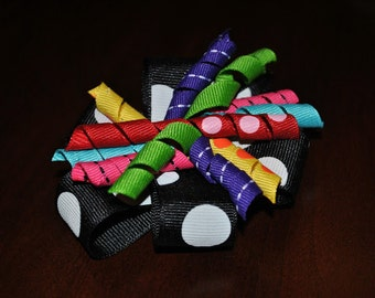 Party Explosion Curly Q Barrette