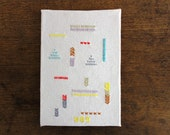 embroidered notepad cover