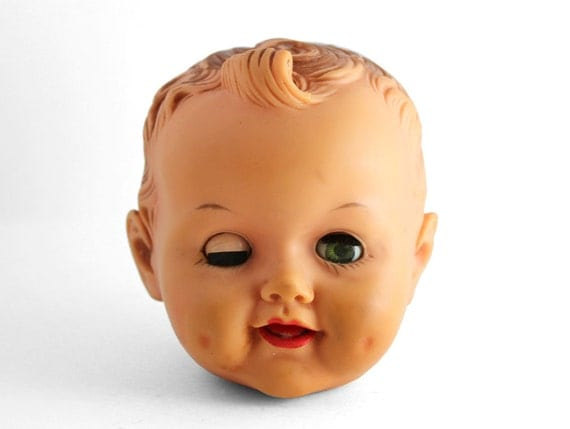 Creepy Vintage Doll Head