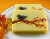 Soap - Autumn Bird Soap - Glycerin Soap - Handmade Soap - Fall Soap - SoapGarden