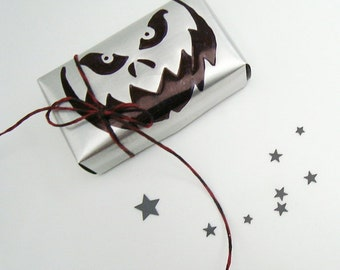 Spooky Pumpkin jack o lantern Gift Box Recycled Soda Can Eco Friendly  Repurposed Recycled