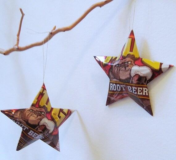 Mug Root Beer Stars Ornaments  Soda Can Upcycled