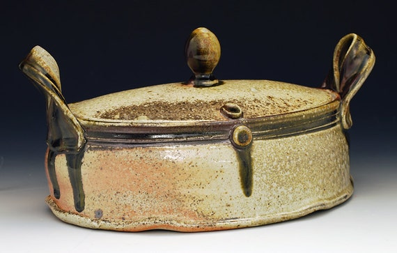 Wood Fired Oblong Lidded Casserole