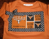Size 6 Months Texas Longhorn Onesie (and other sizes)