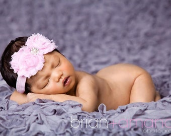 Headband, Baby Headband, Pink baby headband, Headbands, Shabby Rose Headband, Pink Flower Headband, Newborn, Infant , headbands