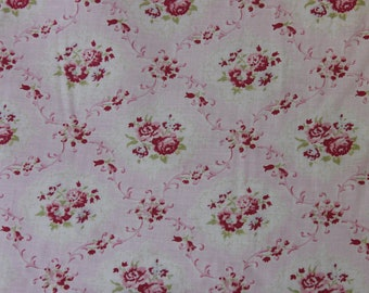 Yuwa Pink Rose Diamonds Cotton Fabric  CR801956