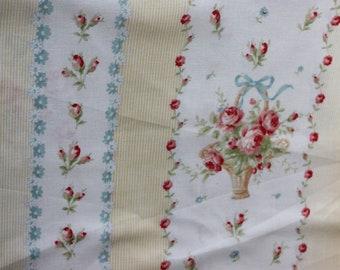 Yuwa Yellow Rose Baskets Cotton Fabric  CR816526D