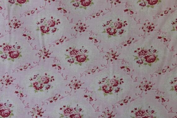 Yuwa Pink Rose Diamonds Cotton Fabric  CR801956