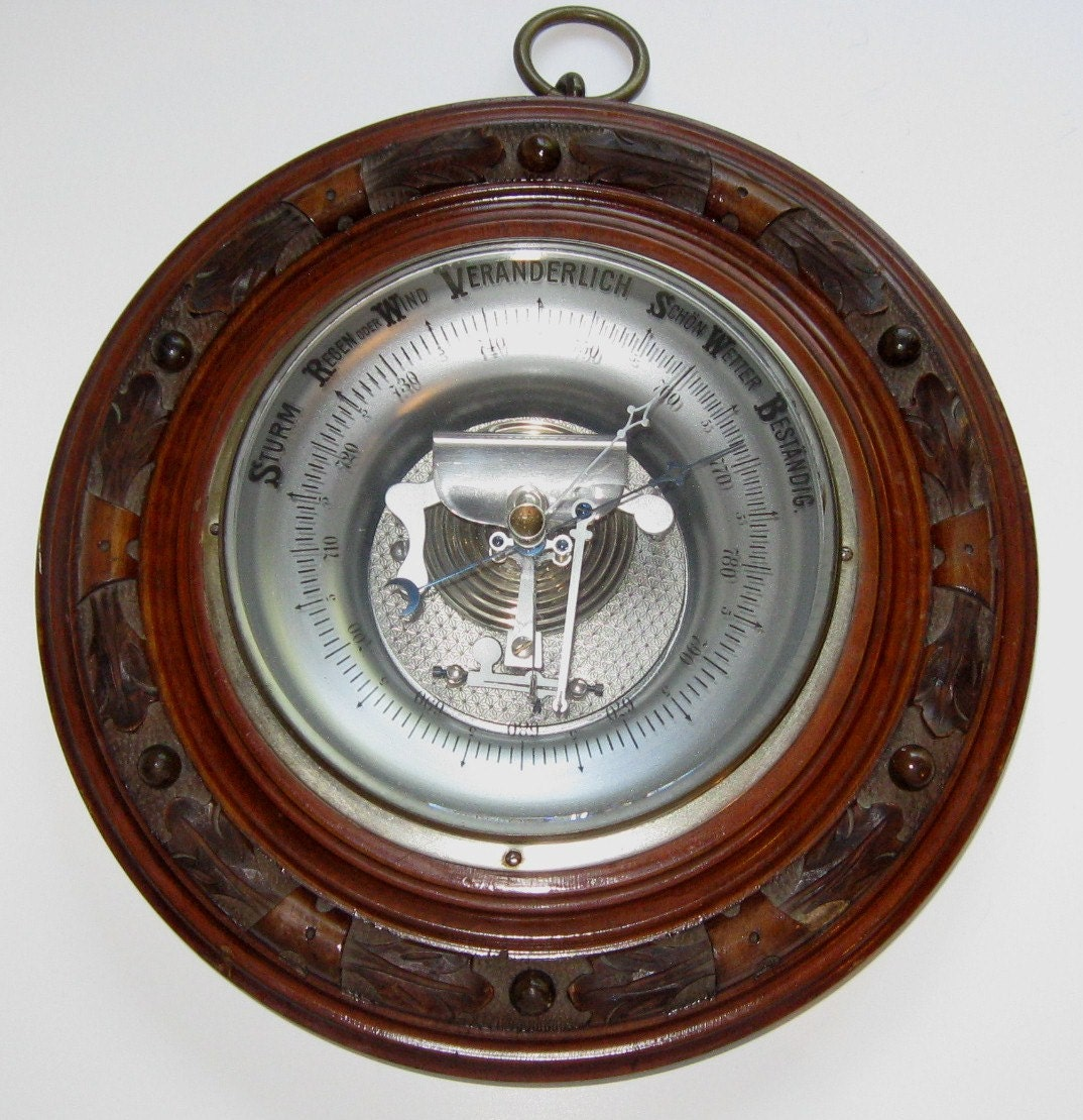 Antique Black Forest Barometer Veranderlich Germany