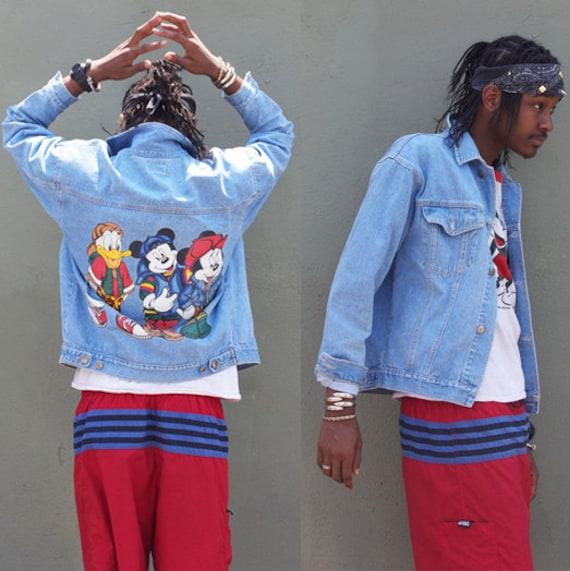 80s Disney MIckey Mouse Denim Jacket