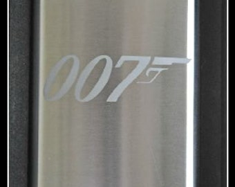 007 James Bond Etched Flask & Funnel, Skyfall for Groom, Groomsman, Father of the Bride, Wedding Favor by Jackglass on Etsy