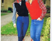 Vest Knitting Patterns for Men and Women -1980s knitting patterns - Patons 726