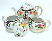 Vintage Nippon Tea Set. Handpainted/  22K gold work, rare, From the Early 1900s       SALE  I Take CREDIT Cards