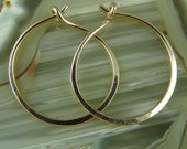 "Rose Gold Hoops / Medium Gold Hoops / Rose Gold Filled Hoops / Little Black Dress Earrings / 1"" Hoops"