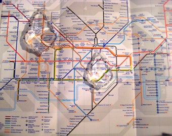 Authentic LONDON TUBE London Underground Map for Crafts, Scrapbook, etc