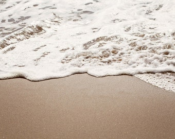 Beach Photography, Ocean Water Art, Waves Seafoam Photo, Ocean Surf Seashore Photography Wall Art, Nautical Decor - Wild Honey