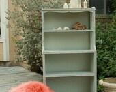 Cottage Blue Vintage Bookcase