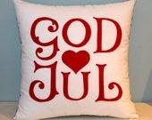 God Jul - Scandinavian Merry Christmas pillow