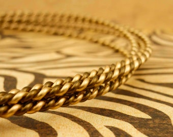 10 gauge Twisted  Wire - Vintage Bronze and Gold or YOU Pick TWO- 5 Feet - 1.5 Meters  100% Guarantee