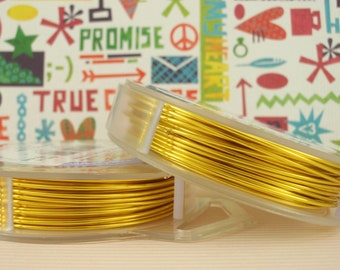 Lemon Yellow Artistic Wire - Permanently Colored - You Pick Gauge 18, 20, 22, 24, 26, 28, 30, 32 - 100% Guarantee