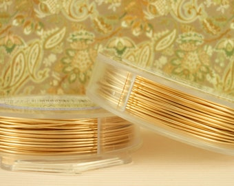 Non Tarnish Gold Color Artistic Wire - You Pick Gauge 10, 12, 14, 16, 18, 20, 22, 24, 26, 28, 30, 32 – 100% Guarantee