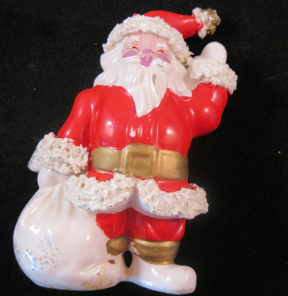 S santa claus ceramic figurine tall christmas