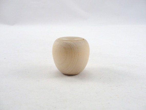 "Tiny wooden apple trinket box DIY, 1 1/4"" tall"